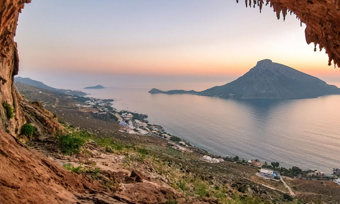Kalymnos cave sunsets is a spectacular experience