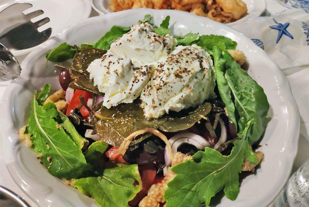 Mermizeli (traditional Kalymnian salad)