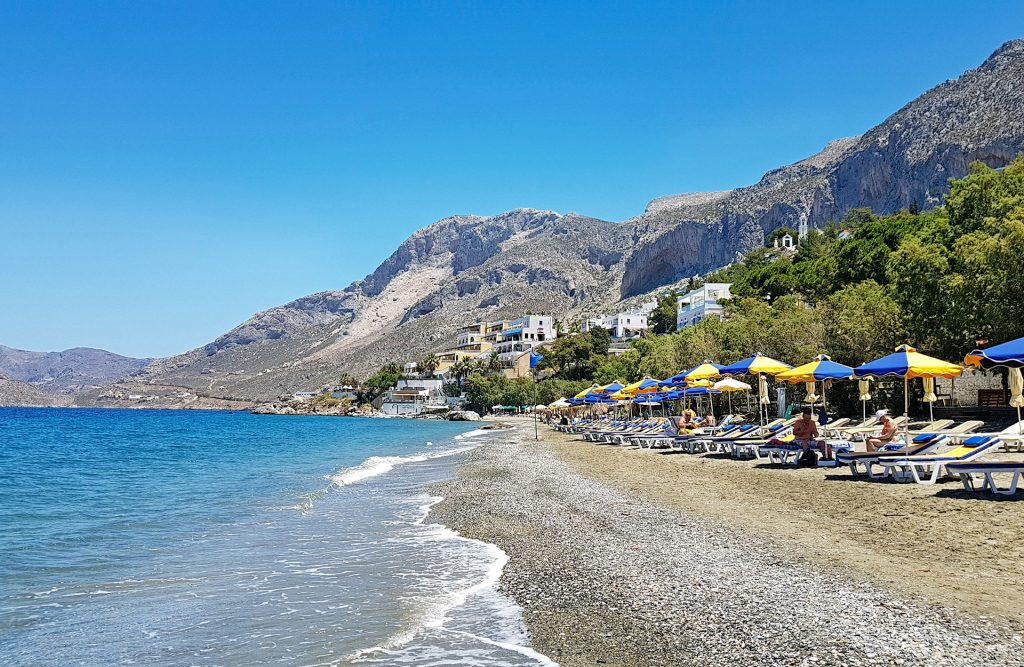 Masouri (or Massouri) beach in Kalymnos