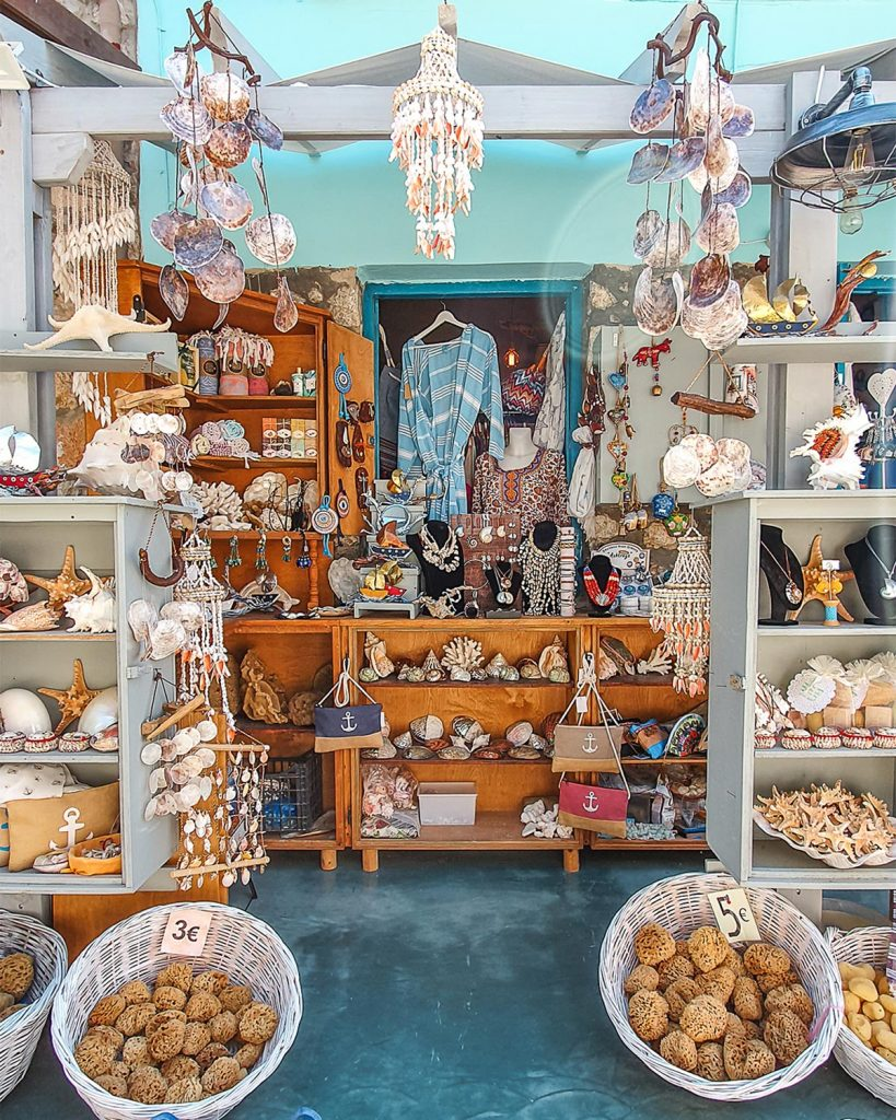 Souvenir shops in Kalymnos