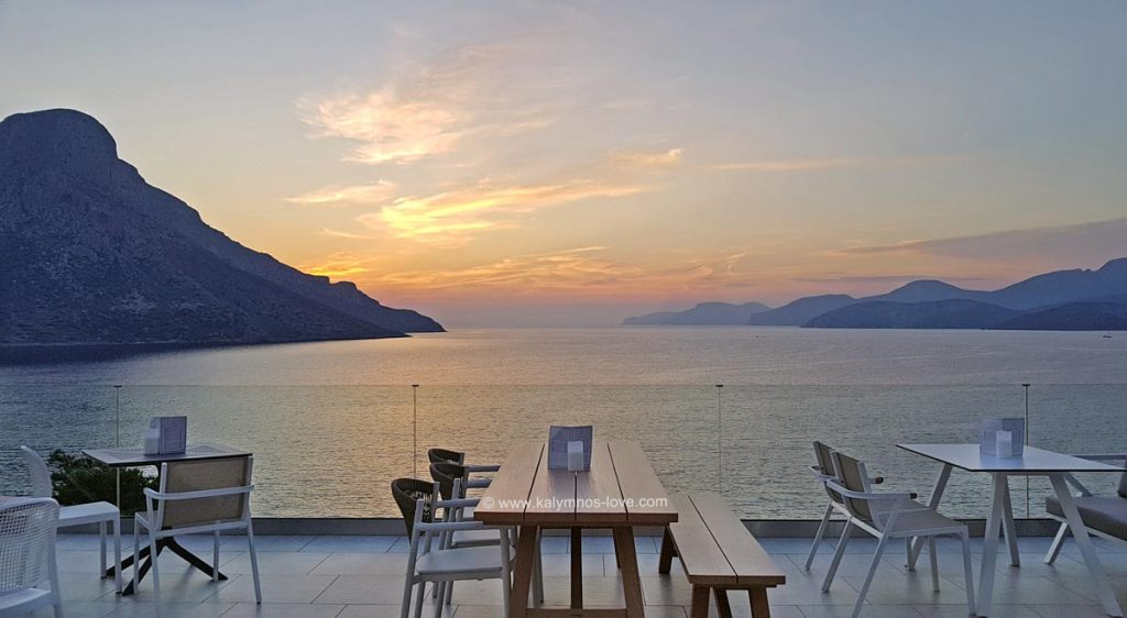 The view from Carian Hotel terrace in Kalymnos.