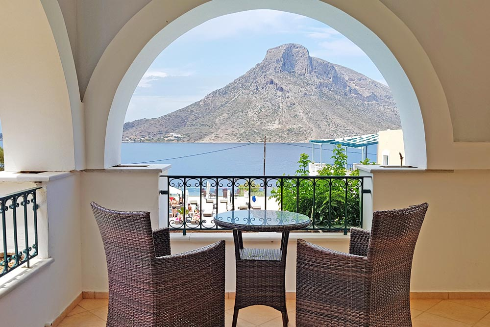 Enjoy the view from your balcony at Elena Village Hotel
