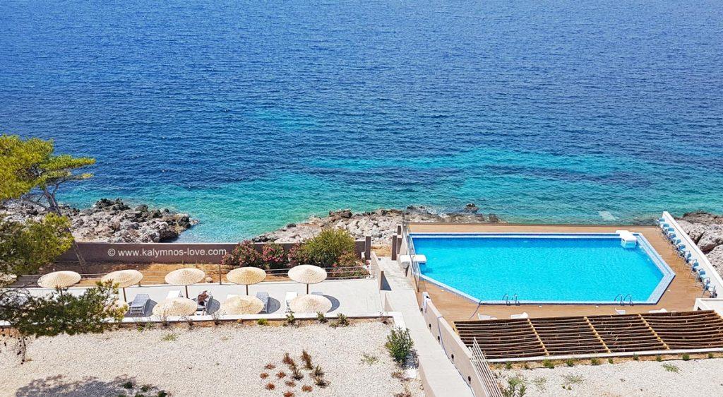Carian Hotel has a pool as well as their own, private beach.