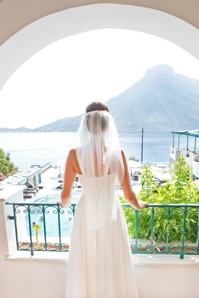 Bride getting ready for her wedding at Elena Village
