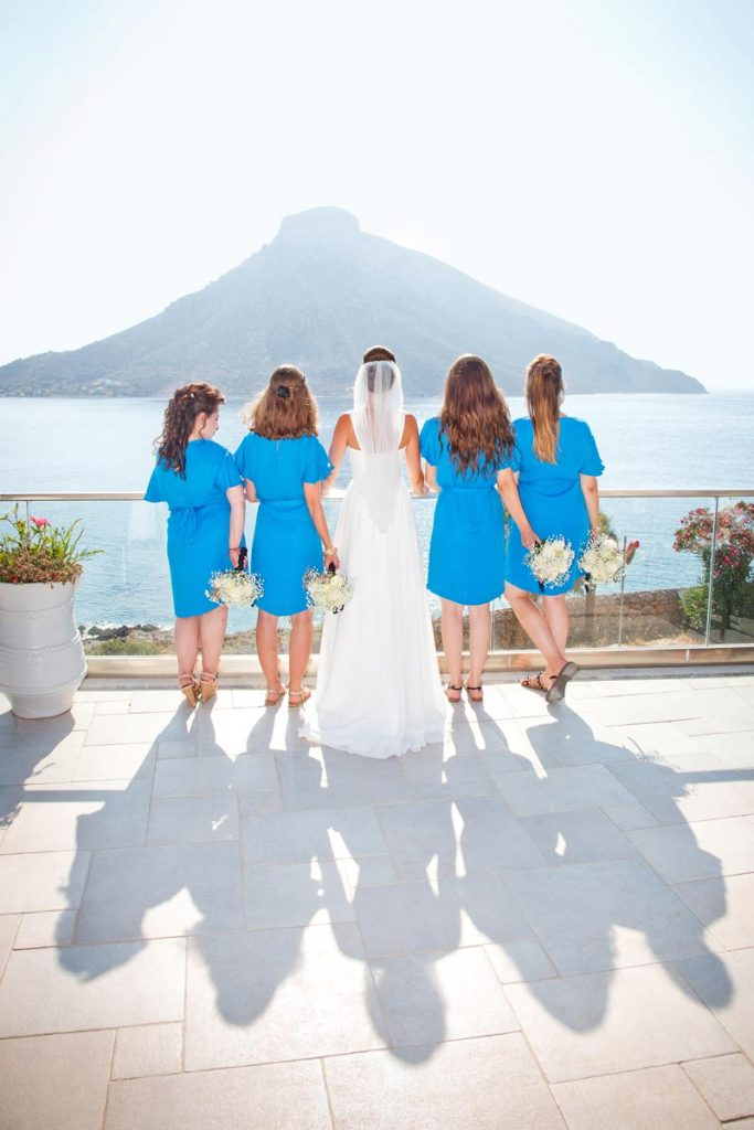 Wedding photo of bride and bridesmaids from Elena Village