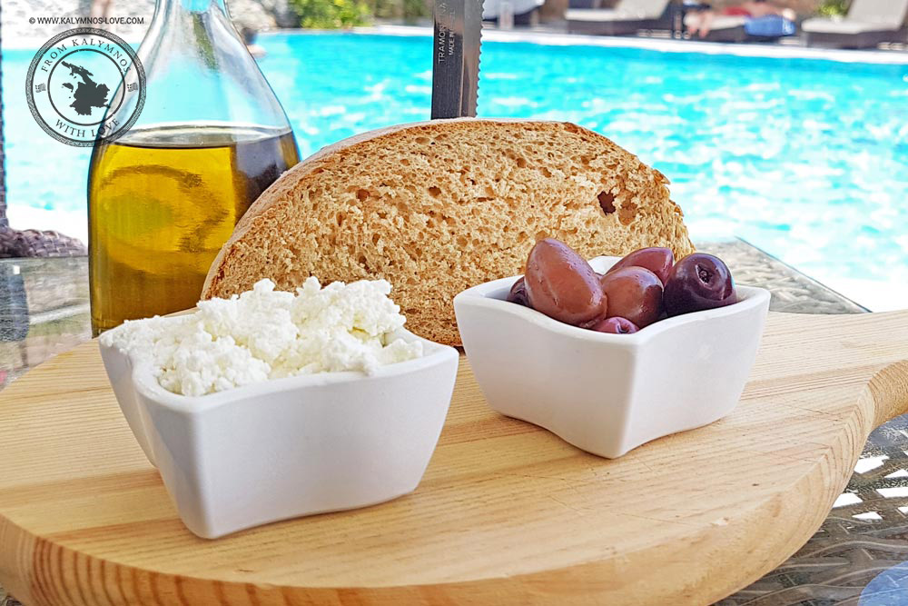 Homemade bread with olives, olive oil and cheese!