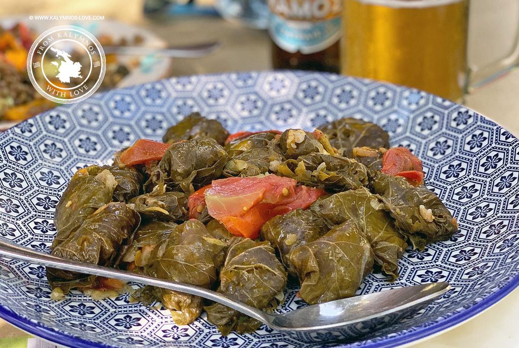 Fila - stuffed vine leaves the Kalymnos way