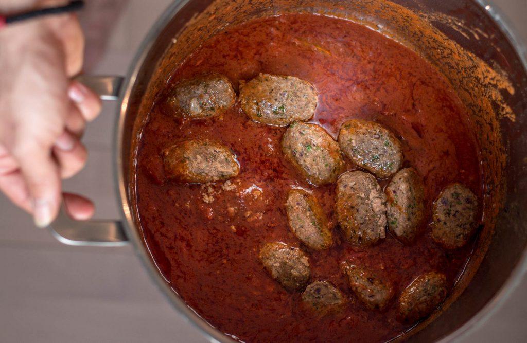 Greek meatballs in tomato sauce