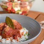Soutzoukakia - Greek meatballs - vegan or meat